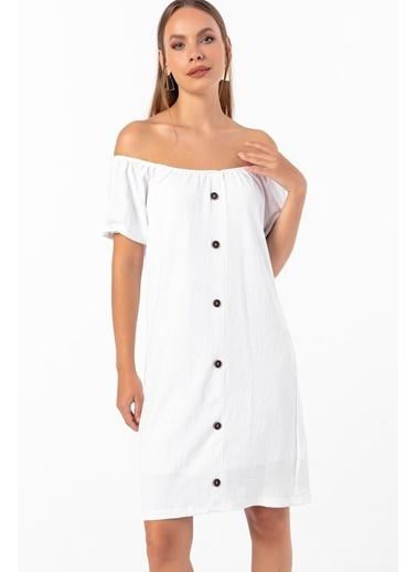 Emjey Elbise Beyaz